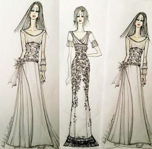 daisy & co stilista bozzetti abito da sposa personalizzato