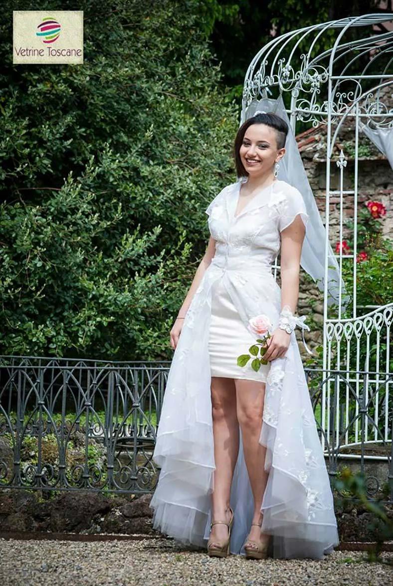 abito da sposa due pezzi dual dress