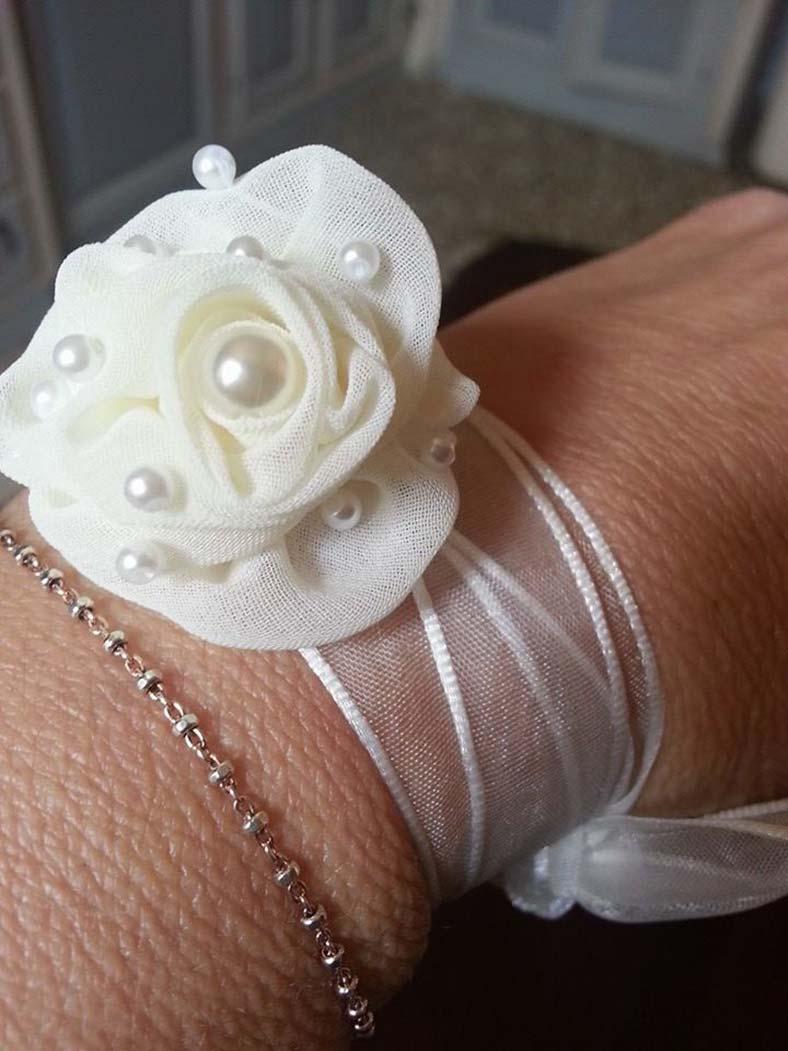 bracciale sposa originale con fiore