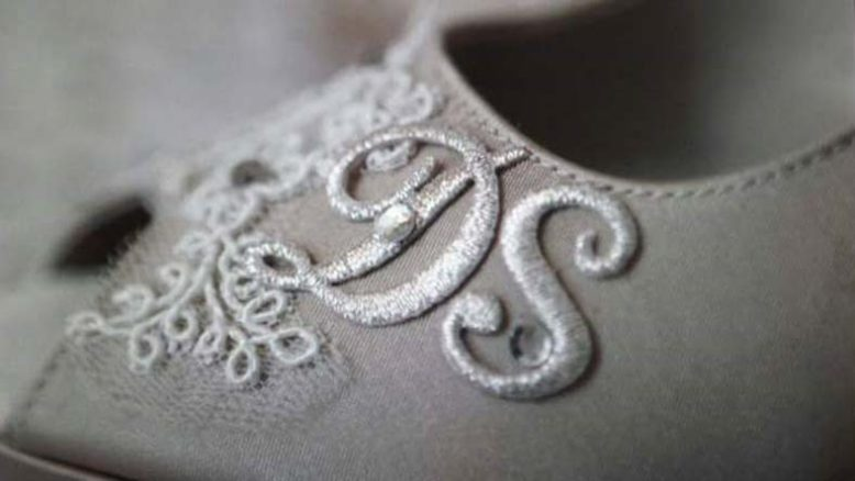 scarpe sposa pizzo iniziali