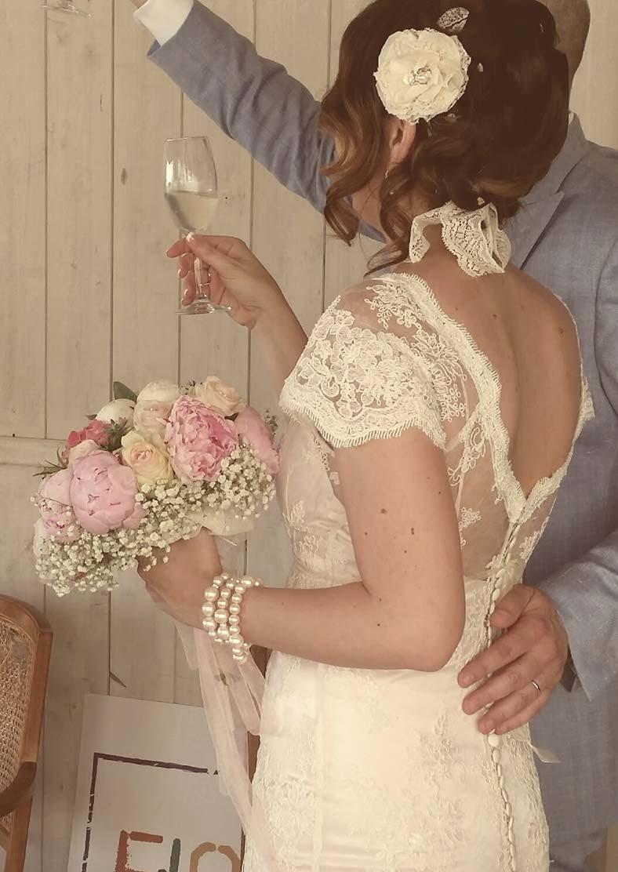 abito da sposa trasformabile di Rebecca