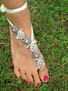 baciapiedi sandali sposa spiaggia