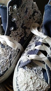 scarpe sposa converse pizzo jeans