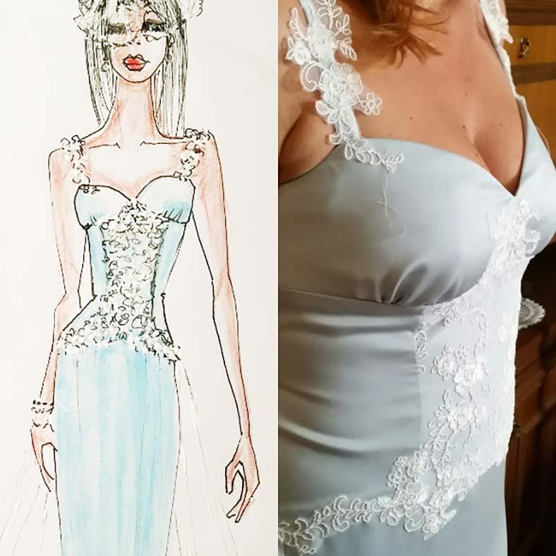 abiti sposa poco seno scollatura