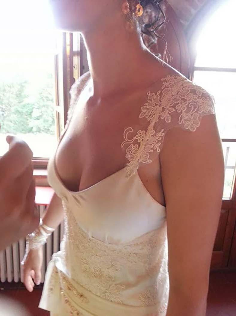 abito sposa scollatura seno piccolo