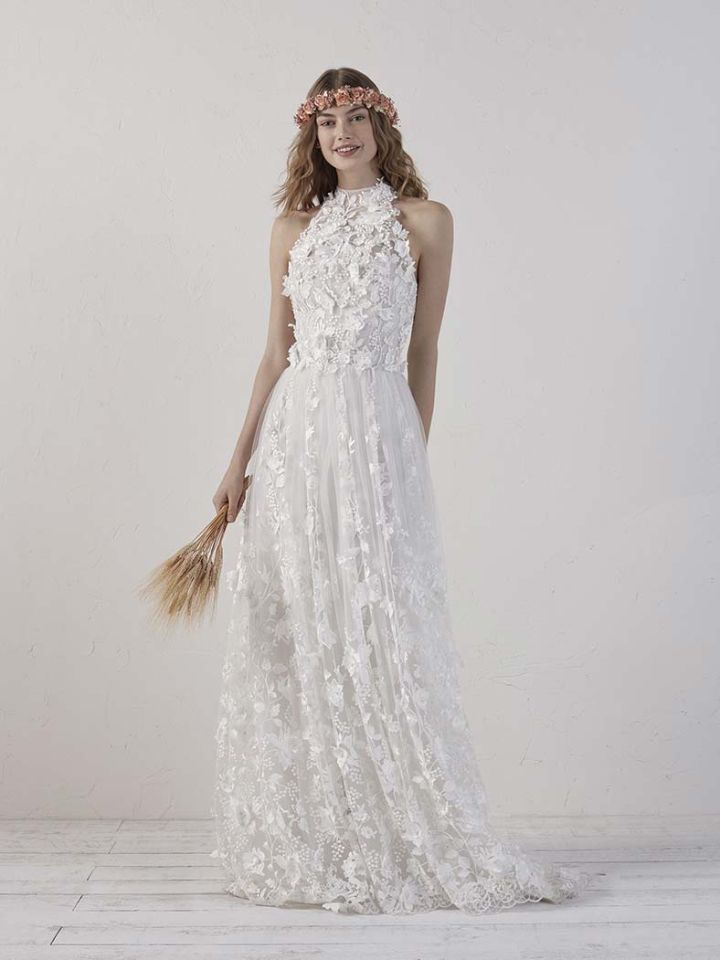 abito sposa scollatura americana