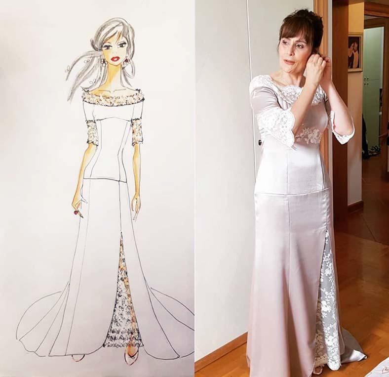 abiti da sposa semplici seta