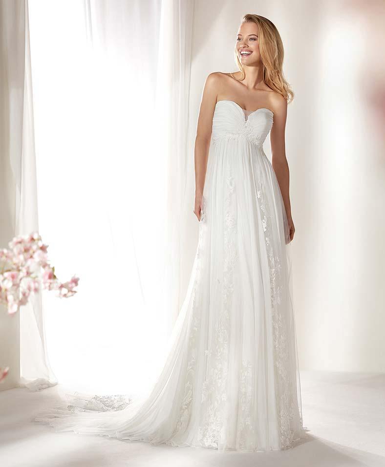 abito da sposa per nascondere la pancia stile impero