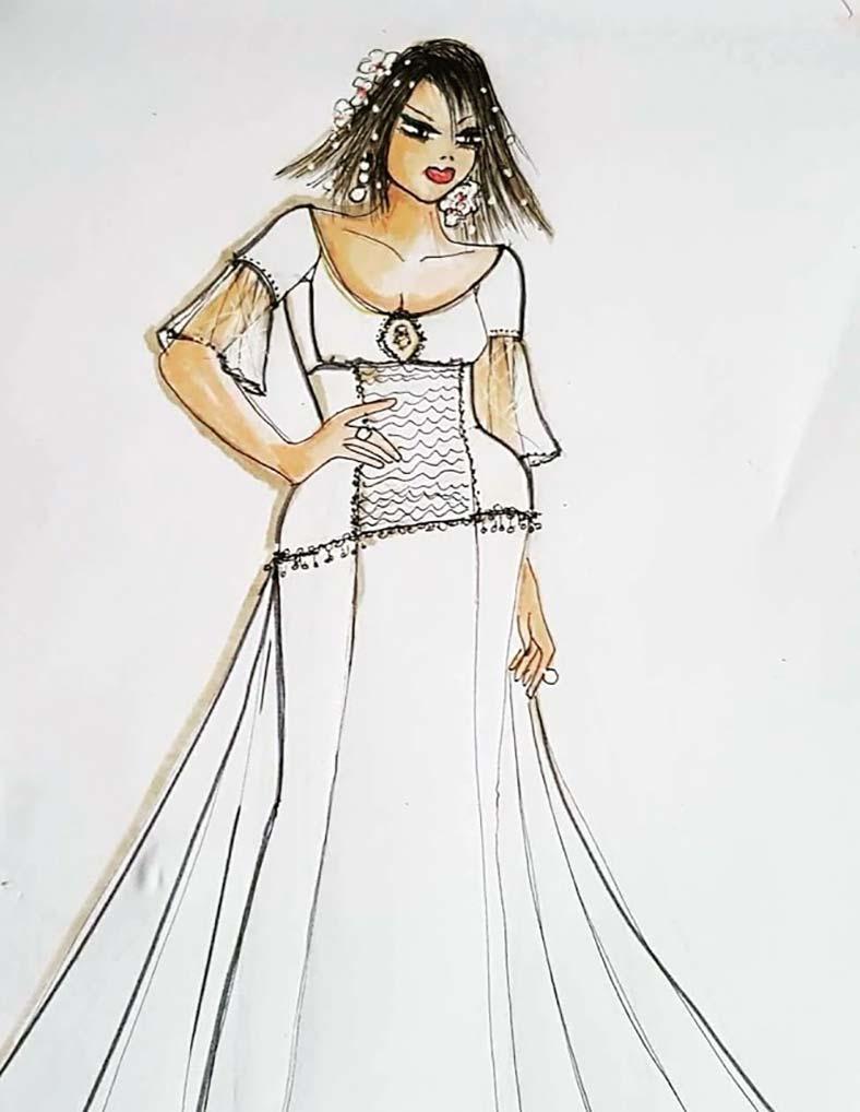 abiti sposa semplice curvy