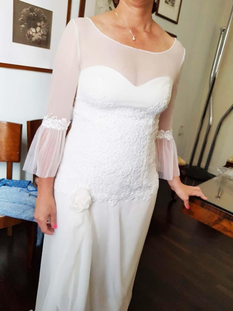 abito da sposa semplice e particolare