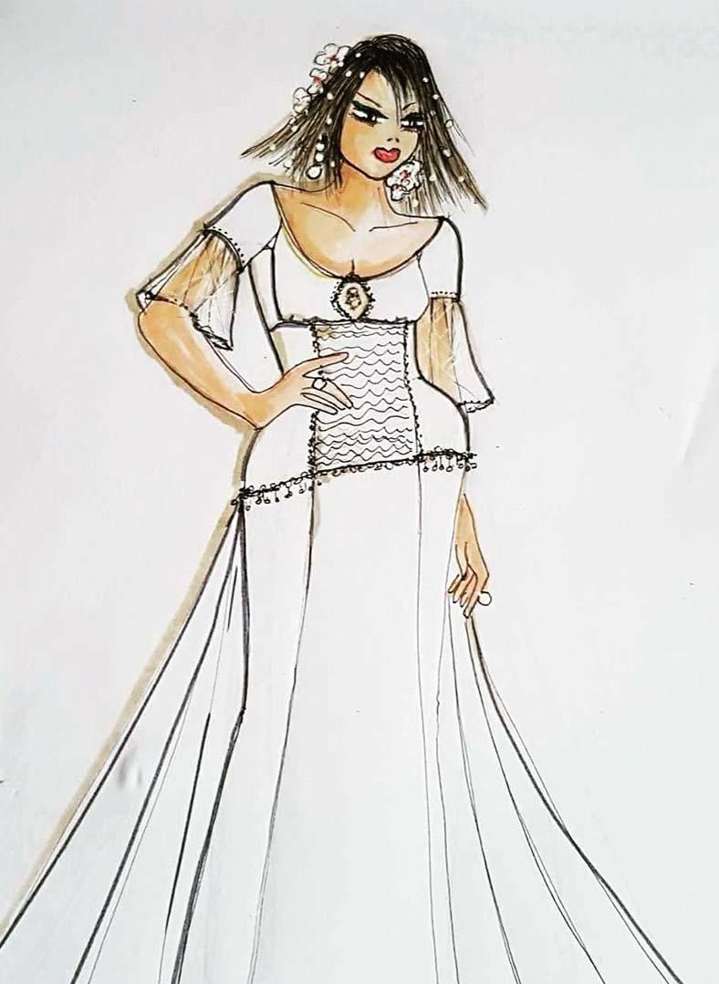 abito da sposa a sirena per chi ha i fianchi larghi