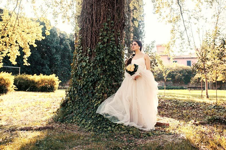 abito da sposa per fisico a pera stile principesco