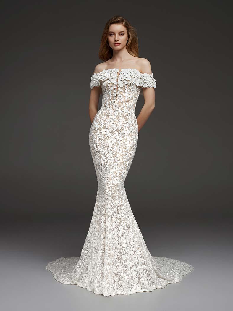 abiti da sposa scollatura a barchetta