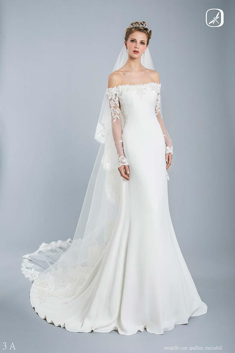 abito da sposa scollo a barca