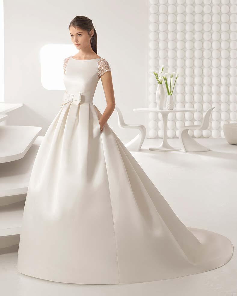 abiti sposa in raso duchessa