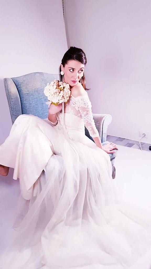 abito da sposa in tulle e pizzo