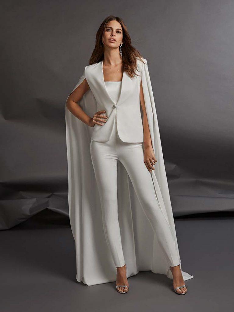 abiti da sposa pantaloni e giacca