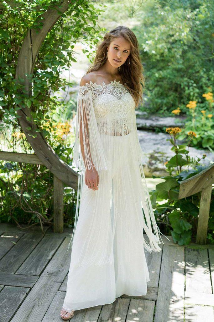 vestiti da sposa con pantaloni