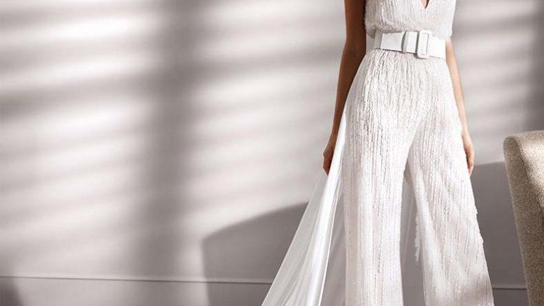 vestiti da sposa pantaloni palazzo