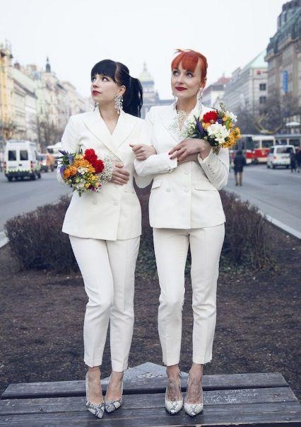 matrimoni lesbici spose pantaloni