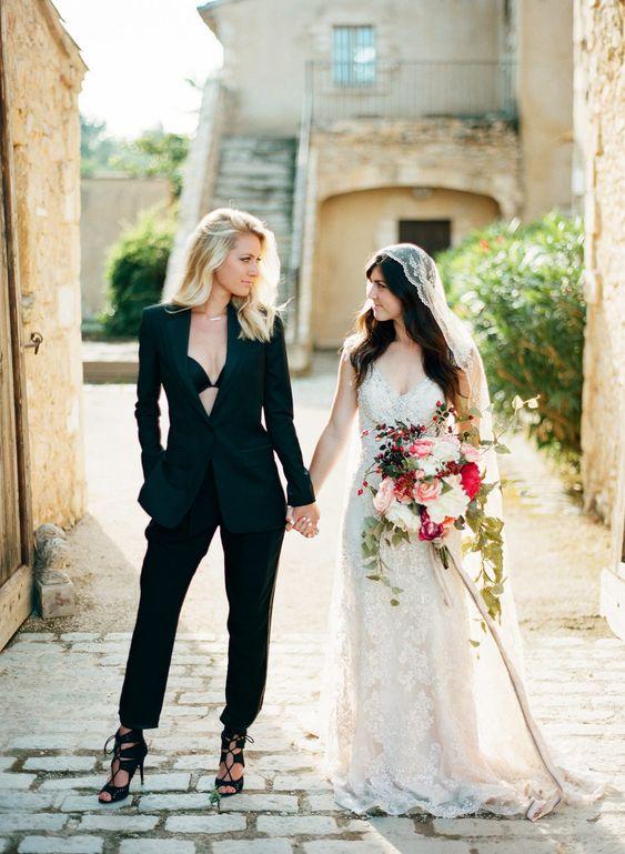 matrimonio lesbico vestiti spose