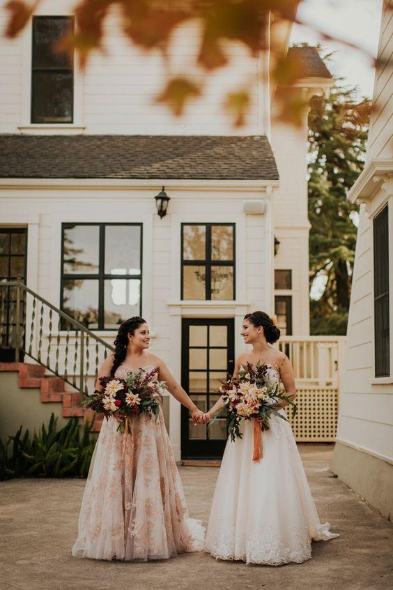spose lesbiche abiti sposa