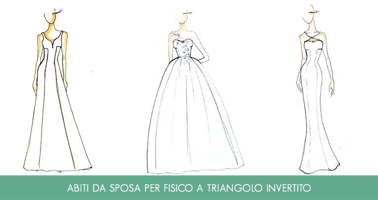 abiti da sposa per fisico a triangolo invertito