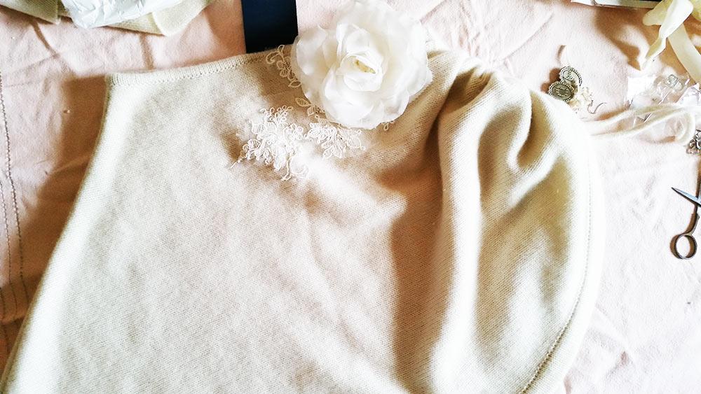 mantella di lana per abito da sposa