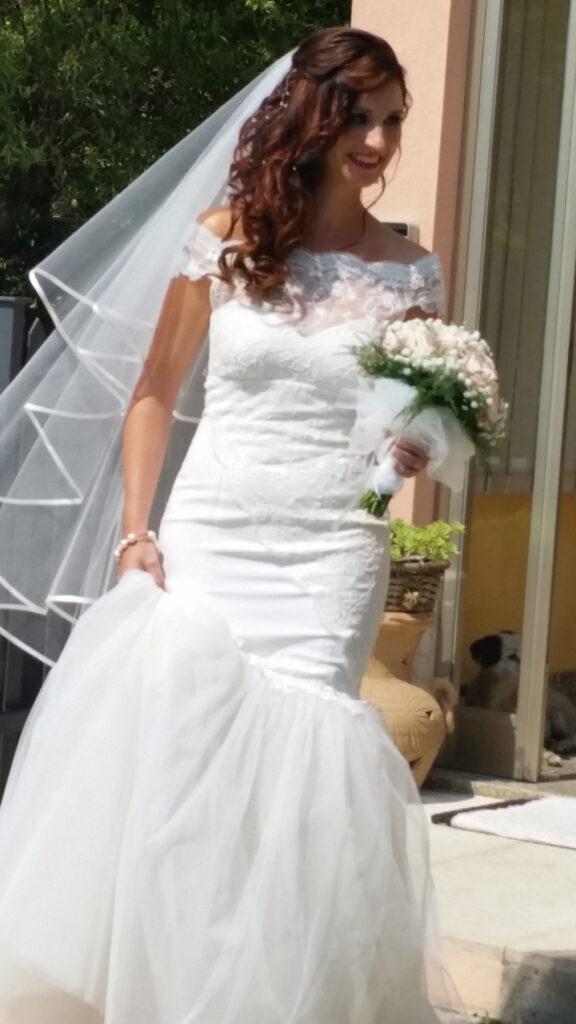 abito da sposa personalizzato sirena pizzo